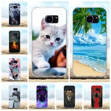 For Samsung Galaxy S7 Case Soft TPU Silicone For Samsung Galaxy S7 G930F G930FD G930W8 Cover Scenery Pattern For Samsung S7 Bag все цены