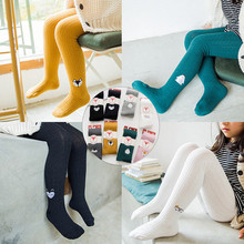 Fashion Autumn Baby Girls Tights Cute Cartoon Animal Embroidery Children Pantyhose for Girls Soft Cotton Toddler Baby Tights