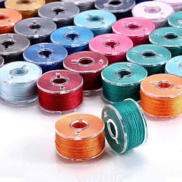 Купить 36pcs plastic sewing machine bobbins assorted colors threads картинки цена