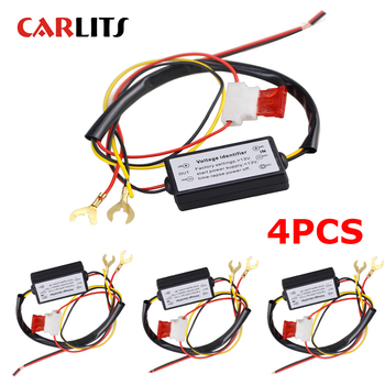 4PCS DRL Controller Auto Car LED Daytime Running Lights Controller Relay Harness Dimmer On/Off 12-18V Fog Light Controller  CE