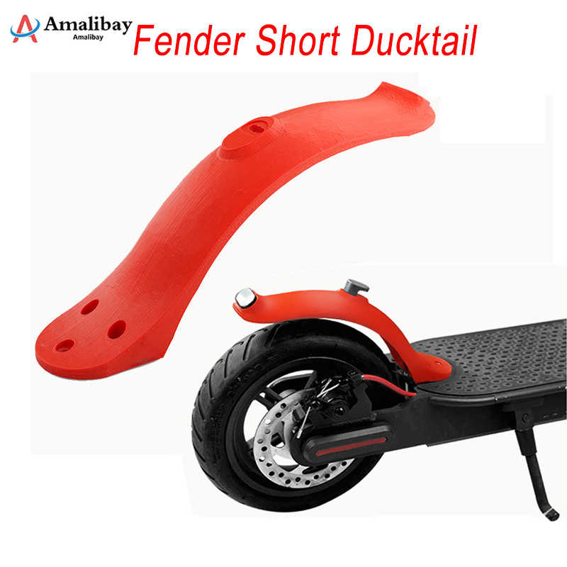 Upgraded Fender Short Ducktail for Xiaomi M365/M187/Pro New Version Rear Mudguard Back Wing for Xiaomi M365 Scooter Accessories