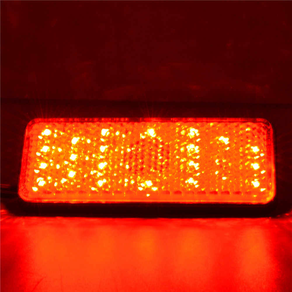 JAER LED uniwersalny motocykl ATV tylne światła tylne Turn Signal hamowania Stop do biegania płyta oznaczone znakiem E 12V dla honda Yamaha Kawasaki