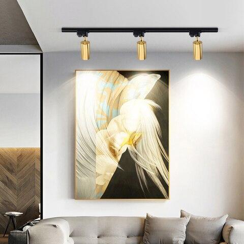 hartisan moderno led faixa holofotes cob teto montado lampadas ajustavel 220v 7w rastreamento luminarias sala