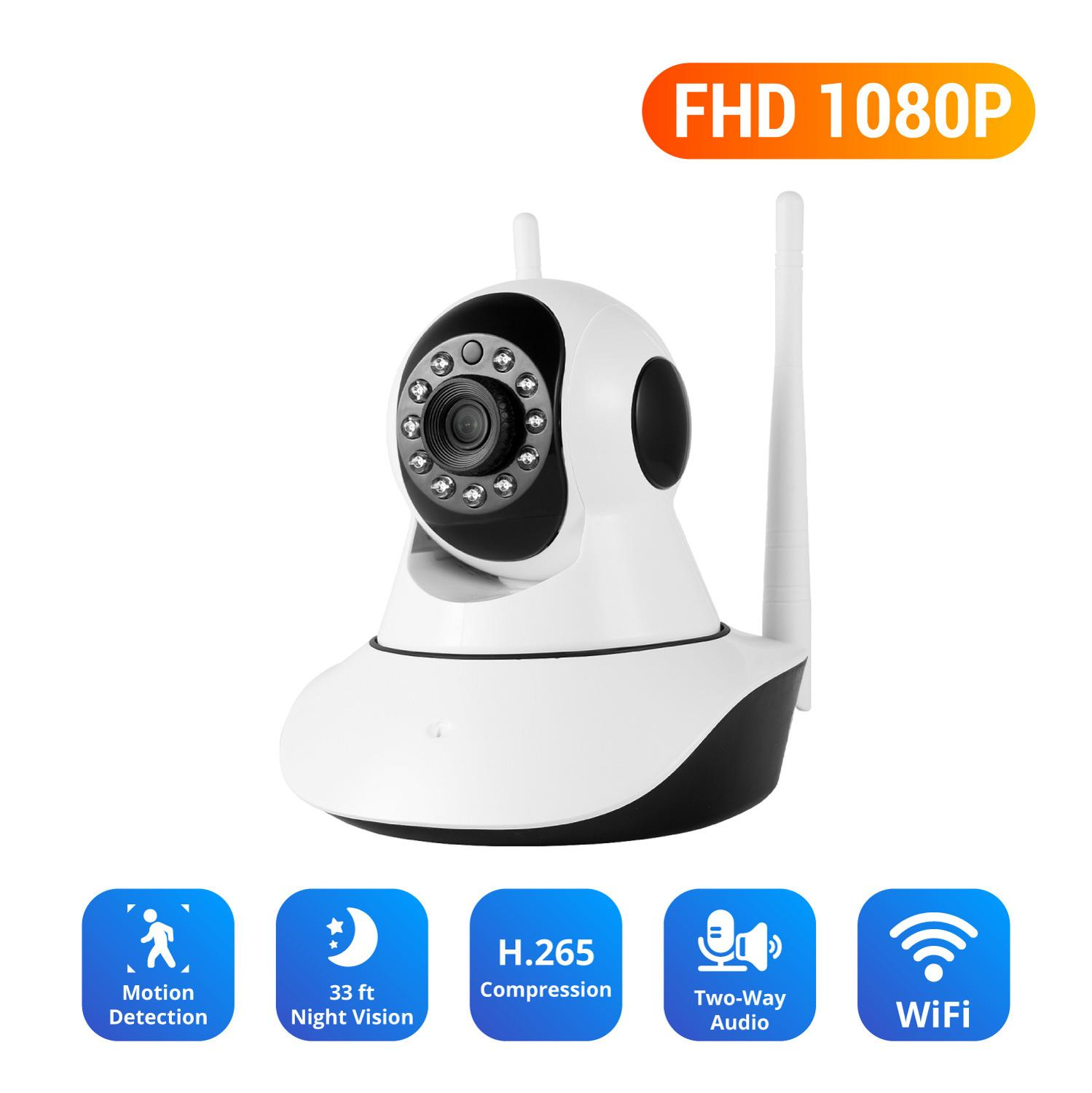 NEW Sale 1080P FHD IP Wireless Video Security Camera Two Way Audio Baby Monitor Day Night Monitoring WIFI Surveillance CCTV Cam