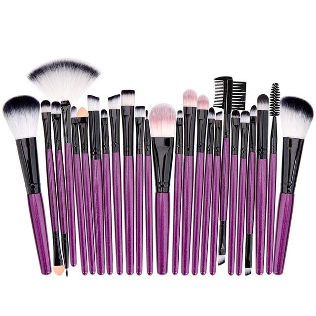 Professional Makeup Brushes Set Powder Foundation Blusher and Eyeshadow Tools For Women Cosmetic 25Pcs Brushes Set 3