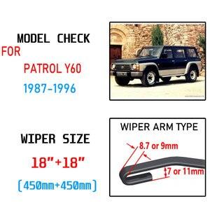 Image 2 - Für Patrol Y60 1987 1988 1989 1990 1991 1992 1993 1994 1995 1996 Zubehör Auto Frontscheibe Wischer Klingen Pinsel cutter