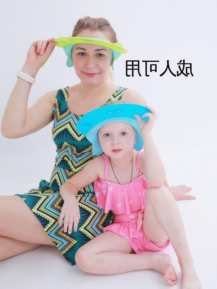 Children Shower Cap Silica Gel Earmuff Baby Bath Cap Infant Kids Adults With Waterproof Shower Cap Shampoo Useful Product