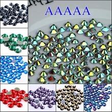 Высшее качество! Стразы AAAAA с горячей фиксацией, все цвета, разные размеры, кристаллы AB SS6 SS10 SS16 SS20 SS30, стеклянные стразы, железо на горячей фиксации