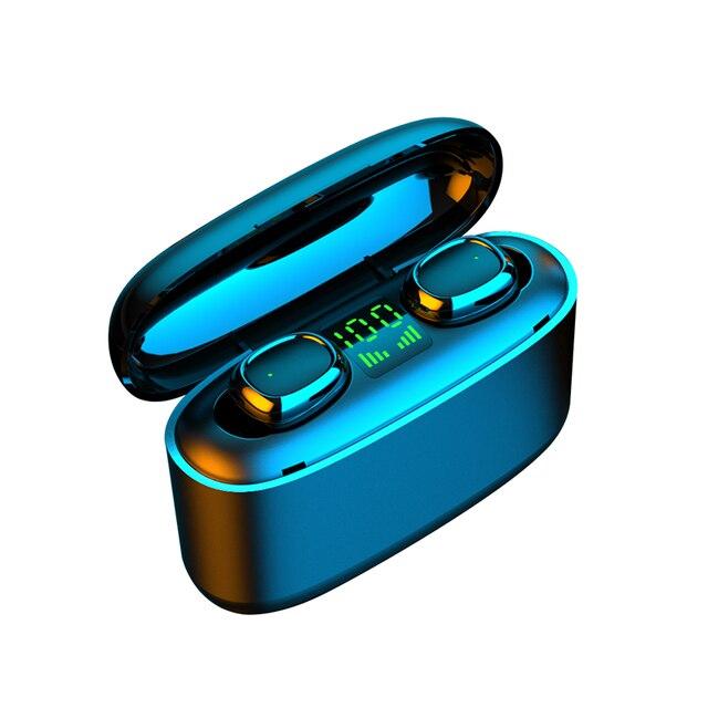 KUGE Wireless Earphone Bluetooth V5.0 F9 TWS Wireless Bluetooth Headphone LED Display With 2000mAh Power Headset With Microphone 6