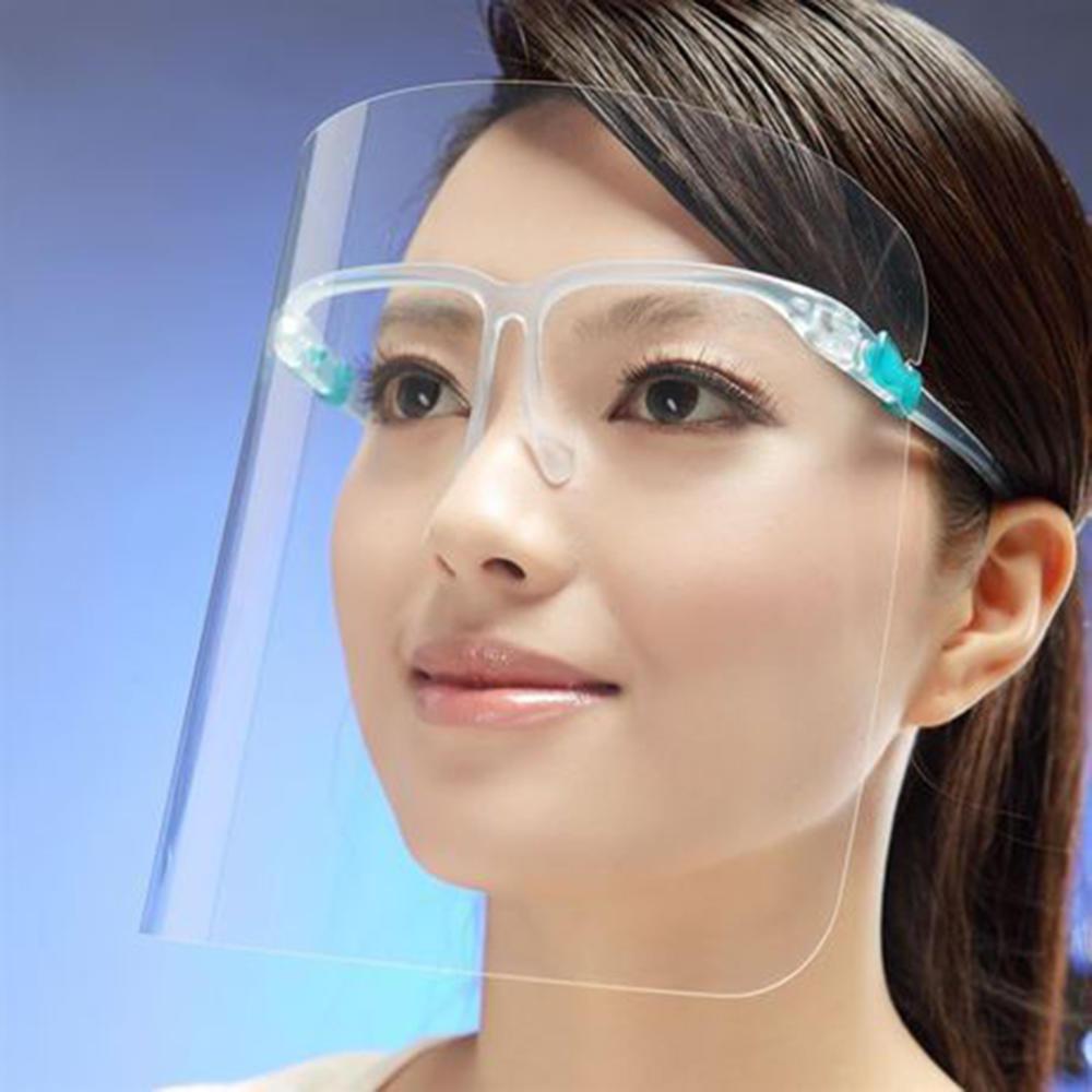 Transparent Anti-droplet Mask Full Screen Mask Rotective Faceshield Cover Visor Dust Proof Anti Saliva Fog Plastic Mask