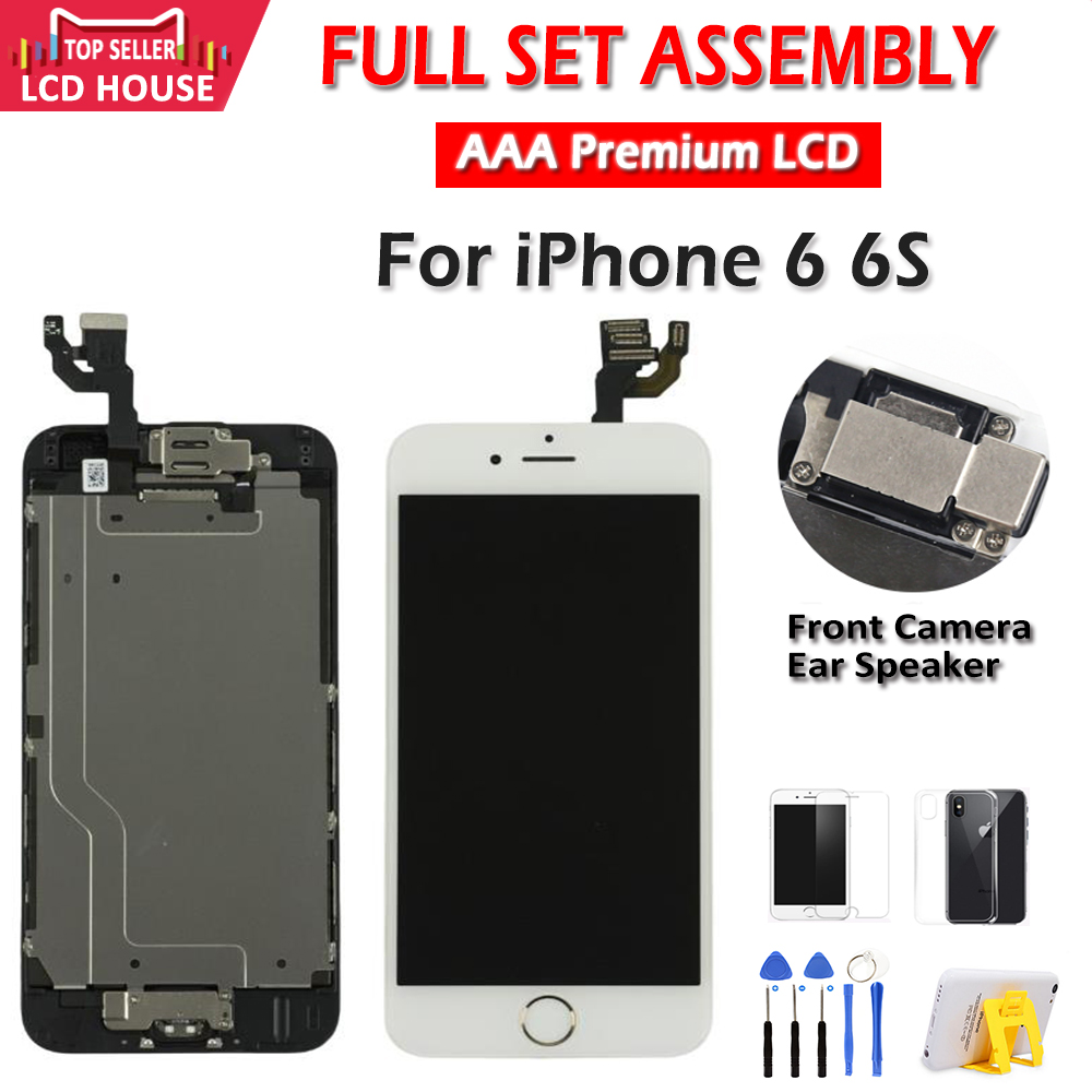 """Tela 4.7 """"para o iphone 6 6s 6g lcd conjunto completo de montagem 100% digitalizador de toque substituição de tela para iphone 6s"""