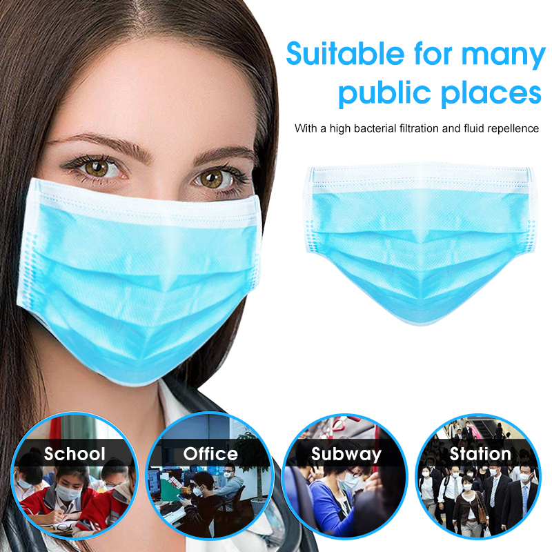 Image 4 - 10 PCS 3 Layer Disposable Medical Protective Face Mouth Masks  Anti Influenza Bacterial Virus  Dustproof  Safety Surgical Mask  -