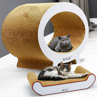 Pet Cat Scratching Post with Large Pillow Play Board Corrugated Paper Scratcher Cardboard Furniture Cats Toys House Condos Mat