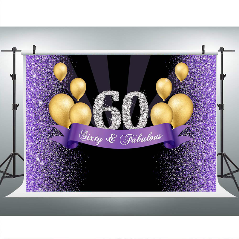 The Party Continuous 50th Birthday Party Flashing Light Button Black//Purple 2 Plastic