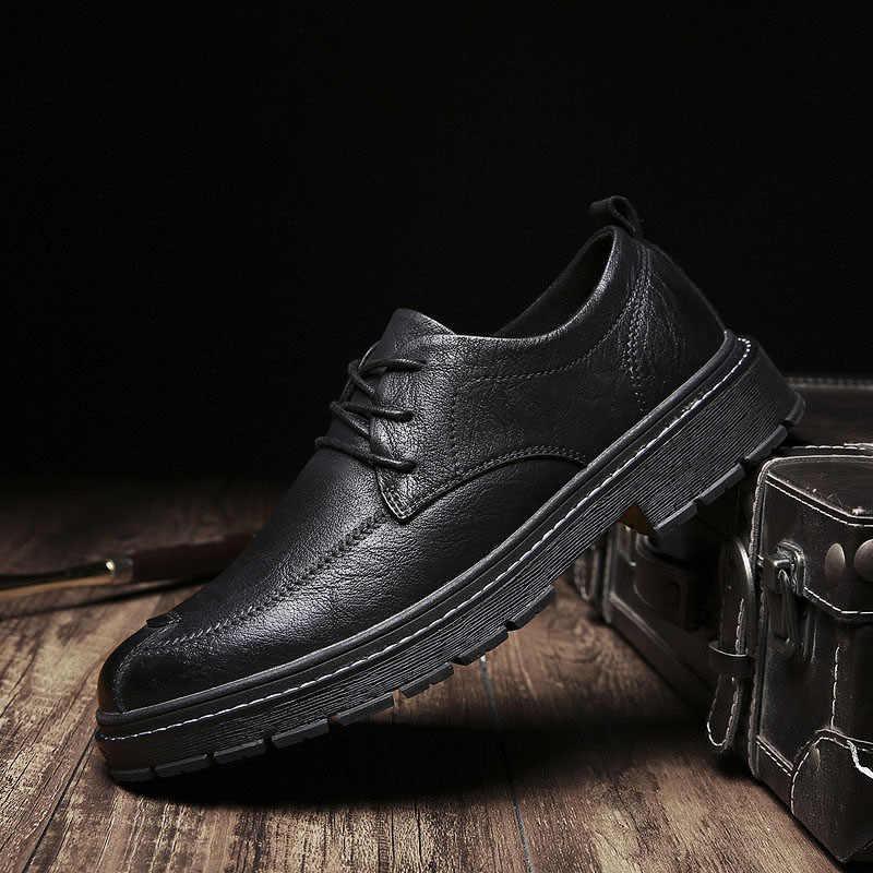 แบรนด์หรูผู้ชายรองเท้า 2019 ผู้ชายหนัง Loafers รองเท้าแฟชั่น Handmade Zapatos De Hombre รองเท้าแตะรองเท้า