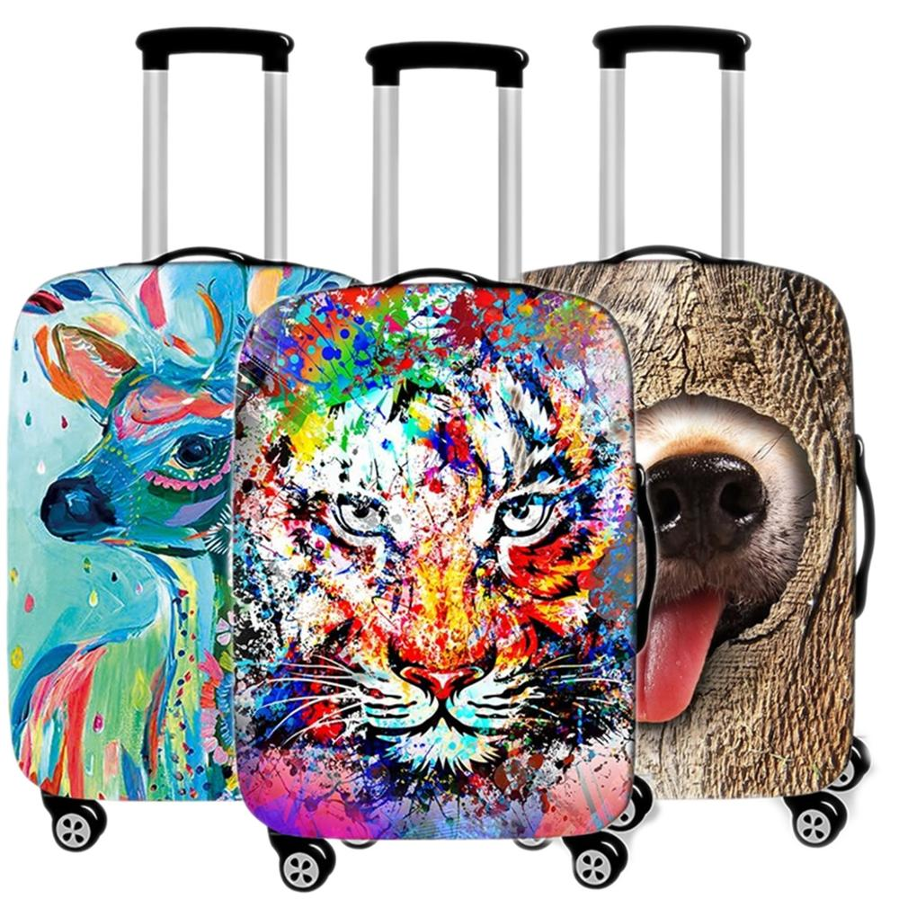 Men Animal Suitcase Case Protective Cover Travel Luggage Thicken Dust Cover Accessories Suitcases Organizer 18-32 Xl Inch