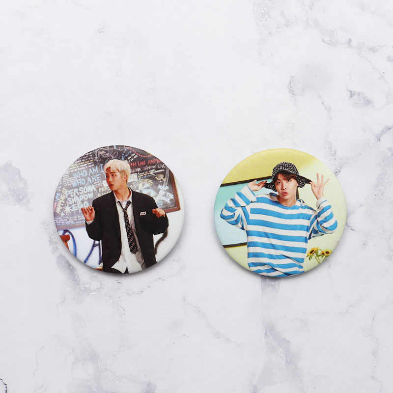 Ano-fim folgas kpop bangtan meninos pinos álbum broche distintivo acessórios para roupas chapéu mochila decoração