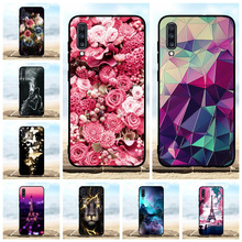For Samsung Galaxy A70 Case Soft Silicone SM-A705F SM-A705FN Cover Flowers Pattern Funda