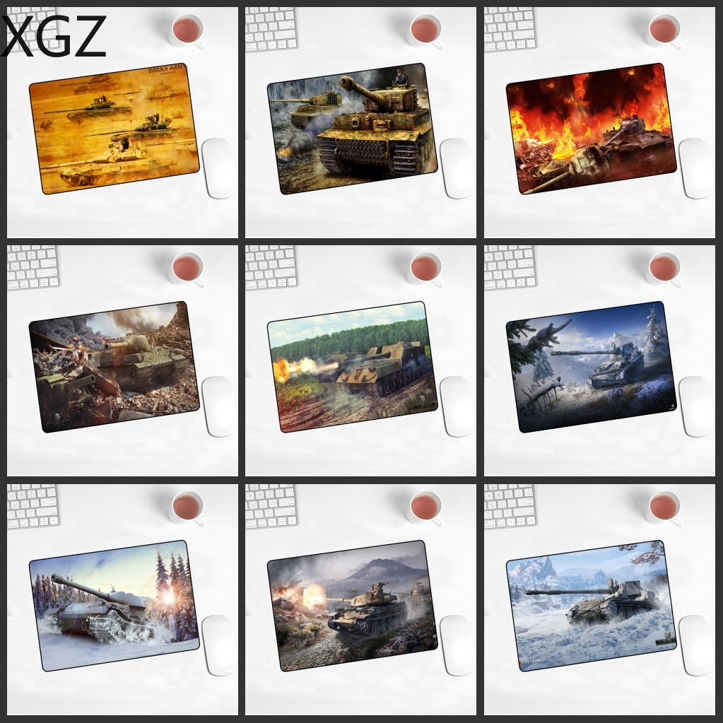 XGZ Big Promotion Tank World  Pad Mouse 22x18cm Non-slip Pad Laptop Gaming   WOT LOL CS DOTA2 Playing Mat