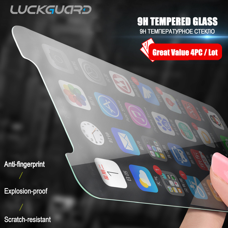 4Pc Protective Tempered Glass On Screen For IPhone 7 6 6s 8 Plus 11 Pro XS Max XR X Glass Film For IPhone 8 X Screen Protector