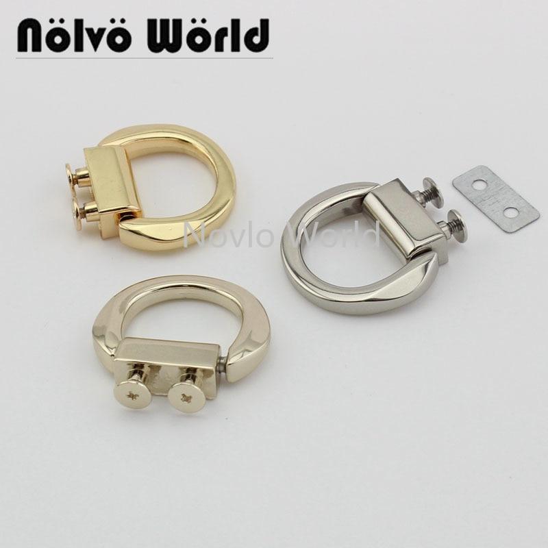 Wholesale 500pcs, 3 Colors Accept Mix Color, Metal Hanger Connects With Screws  Bag Handle Diy Hardware Accessories