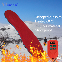 Rechargeable Electric Heating Insoles 3D Orthopedic Arch Insoles Non-slip Shock Absorption Heated Insole Winter Thermal Shoe Pad