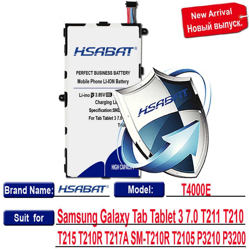 Hsabat 6100 MAh T4000E Baterai untuk Samsung Galaxy Tab 3 7.0 Inci SM-T210 T211 T215 T217 T2105 P3210 P3200 T210R t217A SM-T210R