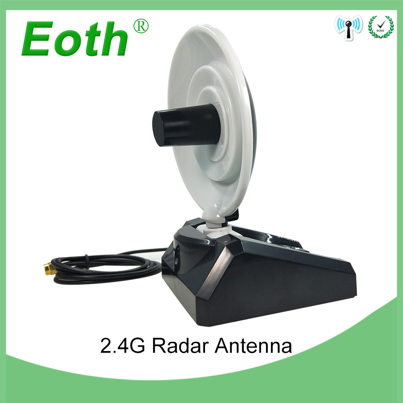 2pcs WiFi Antenna 2.4GHz Antenna High Gain 10dBi RP-SMA Male Wireless WLAN Directional Radar Antenna With RG174 Cable 1M Router