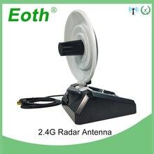 Antena WiFi de alta ganancia, 2 uds., 2,4 GHz, 10dBi RP SMA, macho, inalámbrica, WLAN, antena de Radar direccional con Cable RG174, enrutador de 1M