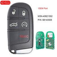 Mando a distancia KEYECU OEM  5 botones  llave de proximidad inteligente sin llave para Jeep Grand Cherokee 2014-2017 FCCID: M3N-40821302 P/N: 68143505