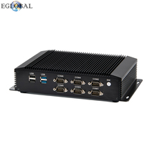 Fanless i5 i7  industrial mini pc 2Lan 6COM Win 7/8/10/Linux embedded computer HDMI VGA GPIO support watchdog auto power on