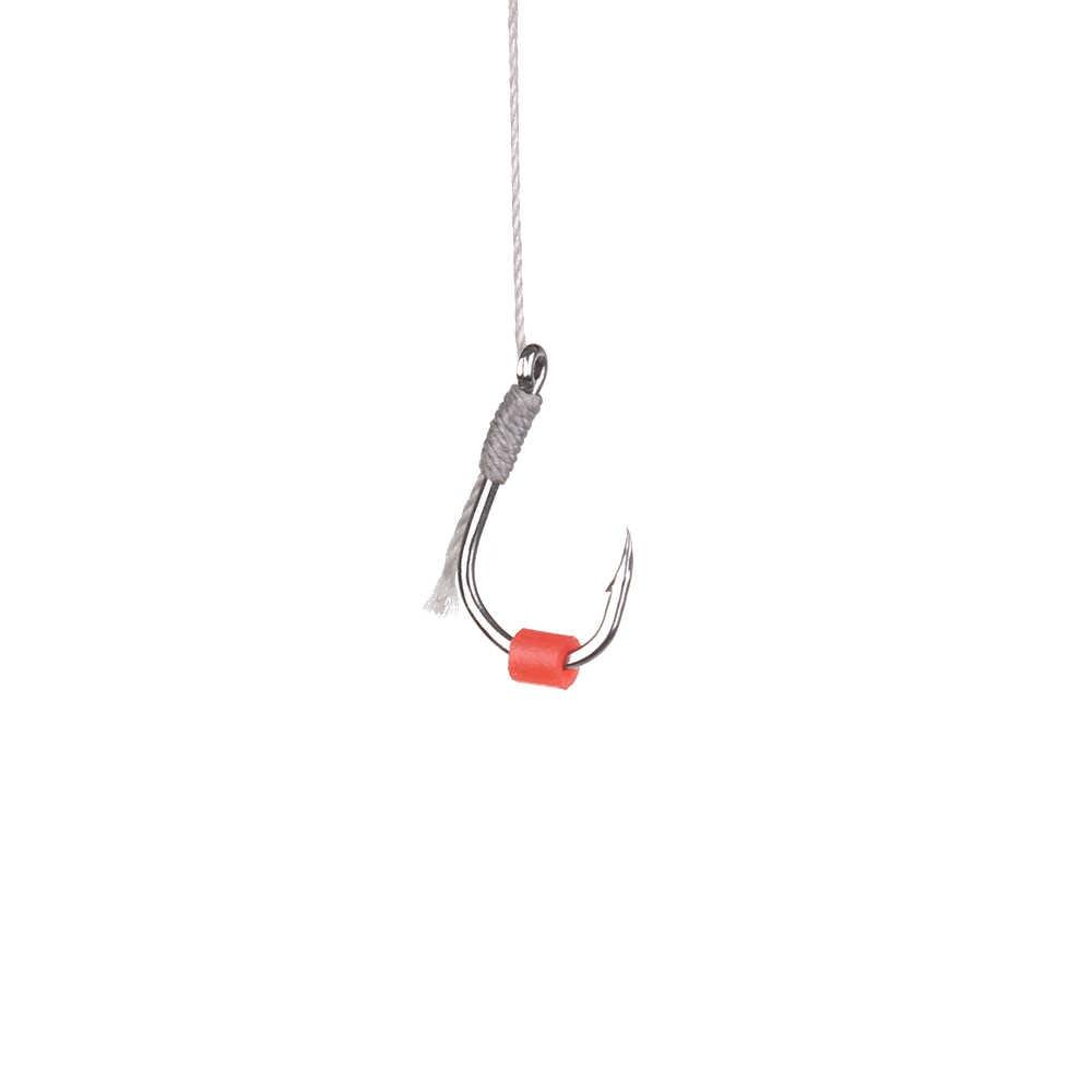 200 ピース/バッグ耐久性のあるレッド高弾性ラテックス生リングゴムバンド赤虫餌餌ため釣具アクセサリー