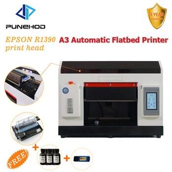 Punehod Factory High Quality Automatic 6 Colors CMYK+WW UV Flatbed Printer Mini DTG T-shirt DIY Printing Machine