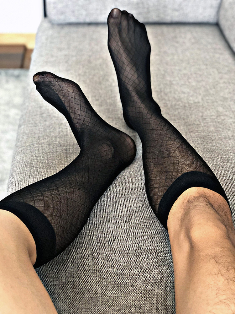 Tube Socks Dress Socks Gifts For Men Sheer Socks Exotic Formal Wear Stocking Suit Men Sexy Transparent Business TNT Socks