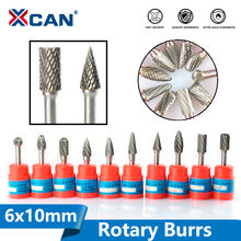 Power-Tools-Accessories Rotary-Tools Shank-Carbide XCAN 6mm Double-Cut 1pc 10-Diameter