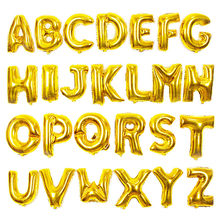 Gold Letter Balloons Creative Decoration Birthday Alphabet Air Foil Balls Wedding Balloons Background Balls High Quality(China)