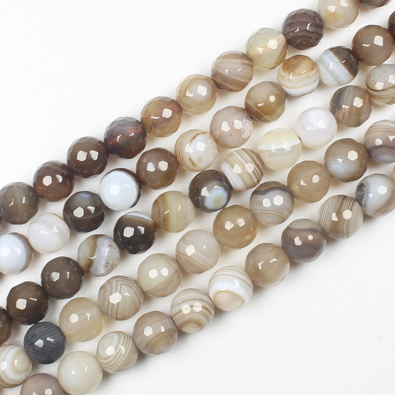 Natural Faceted Botswana agates 6-14mm 15inch per strand, For DIY Necklace Bracelat Jewelry Making !