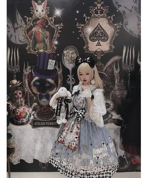 Sweetheart lolita goth retro mourning alice jsk chiffon dress Gothic palace sweet princess lolita dress vintage high waist Women's Clothing & Accessories cb5feb1b7314637725a2e7: Strap dress -Headbow