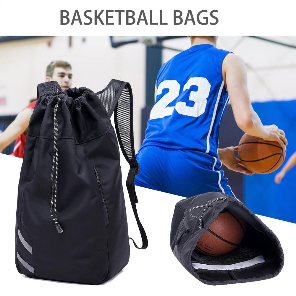 Basketball Backpack Outdoor Sports Gym Waterproof Nylon Drawstring Ball Shoulder Bag With Large Capacity Storage Ball Bag