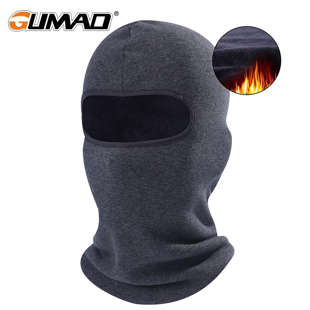 Winter Outdoor Fleece Cycling Balaclava Full Face Mask Warmer Sports Ski Bike Bicycle Thermal Snowboard Face Shield Hat Cap Hood