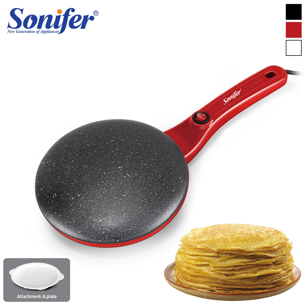 Electric Crepe Maker Machine Pancake Pan Non-Stick Griddle Baking Pan Cake Machine Kitchen Cooking Pan Pie Frying 220V Sonifer