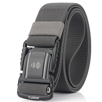 Elastic Men Belt Alloy Magnetic Buckle Outdoor Working Tactical Belt For Jeans Pants Casual Stretch Overalls Male Waist Belt New