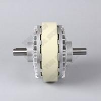 NM 20kg 24V DC doble eje doble 2 ejes magnético polvo embrague bobinado freno para bolsa de Control de tensión impresión de máquina de teñido Embragues de polvo magnético     -
