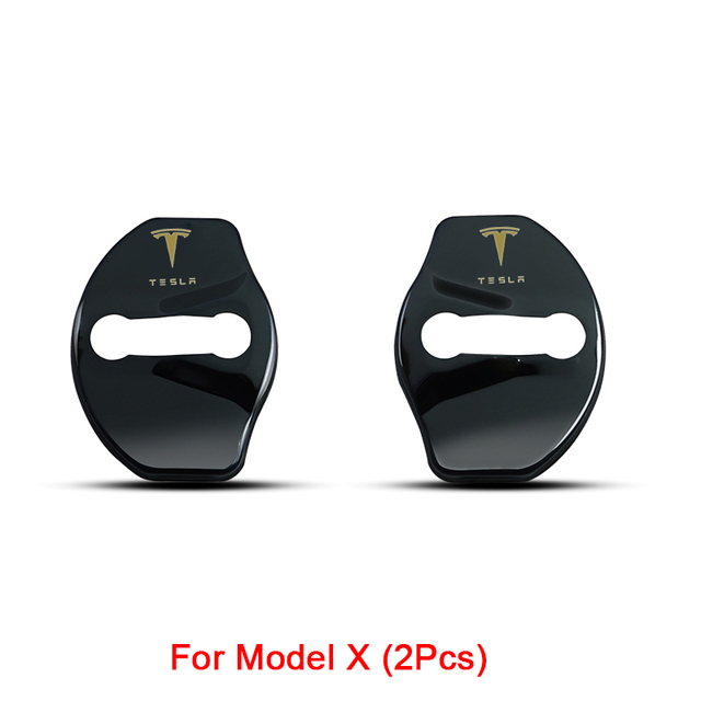 3D Car Door Lock Buckle cover Car stickers car accessories For tesla model 3 model X model y car decoration 4