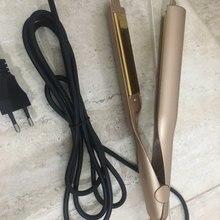 2 в 1 влажный сухой мини-утюжок Светодиодный контроль температуры завивки волос твист DIY выпрямление стайлер двойного назначения электрическая гофра