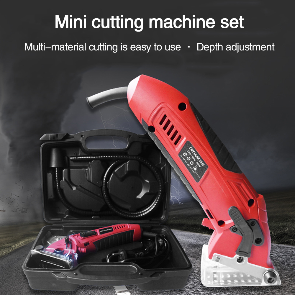 Metal Chainsaw Circular Saw Tool Practical Cutting Saw DIY 3400RPM Power Tools Portable Cutting Machine With Plastic Box