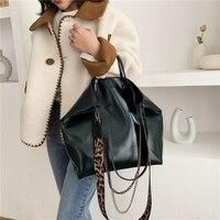 Женская большая сумка через плечо из масляной кожи , женская сумка через плечо из искусственной кожи , женская сумка -мессенджер, мягкие сумк...