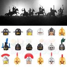 Бойцы Theoden армейское оружие Броня викингов воин брикет среднего возраста фигурки головы строительные блоки игрушки для детей
