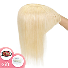 Hair Topper Bang Clip-In Middle-Part Natural Women 8--18-blonde Wig Crown 13x13cm