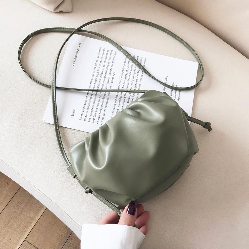 Cloud Shape Women Day Clutch Bag Pleated Dumpling Shoulder Messenger Bag Small Cute Lady Crossbody Cloud Bag